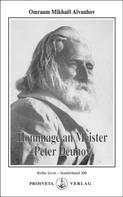 Omraam Mikhaël Aïvanhov: Hommage an Meister Peter Deunov ★★★★★