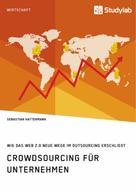 Sebastian Hattermann: Crowdsourcing für Unternehmen. Wie das Web 2.0 neue Wege im Outsourcing erschließt
