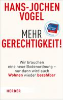Hans-Jochen Vogel: Mehr Gerechtigkeit!