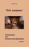 Philippe Lestang: Pré-lectures C