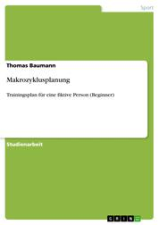 Makrozyklusplanung - Trainingsplan für eine fiktive Person (Beginner)