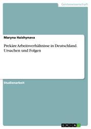 Prekäre Arbeitsverhältnisse in Deutschland. Ursachen und Folgen