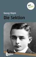 Georg Heym: Die Sektion - Literatur-Quickie ★★★