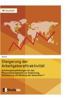 : Steigerung der Arbeitgeberattraktivität. Handlungsempfehlungen für das Personalmanagement zur Gewinnung, Entwicklung und Bindung der Generation Y