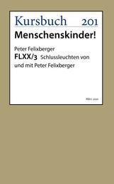 FLXX 3 | Schlussleuchten von und mit Peter Felixberger