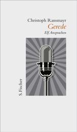 Gerede - Elf Ansprachen