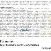 Für immer - Peter Kurzeck erzählt sein Schreiben