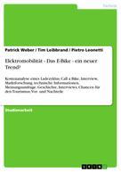 Patrick Weber: Elektromobilität - Das E-Bike - ein neuer Trend?