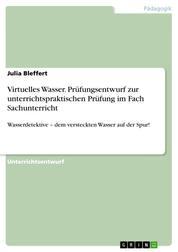 Virtuelles Wasser. Prüfungsentwurf zur unterrichtspraktischen Prüfung im Fach Sachunterricht - Wasserdetektive – dem versteckten Wasser auf der Spur!
