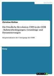 Die Friedliche Revolution 1989 in der DDR - Rahmenbedingungen, Grundzüge und Dynamisierungen - Hauptstrukturen des Untergangs der DDR