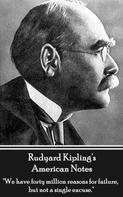 Rudyard Kipling: American Notes