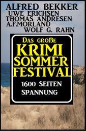 Das große 1600 Seiten Sommer Krimi-Festival