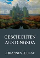 Johannes Schlaf: Geschichten aus Dingsda