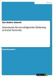 Instrumente für ein erfolgreiches Marketing in Social Networks