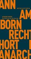 Hermann Amborn: Das Recht als Hort der Anarchie