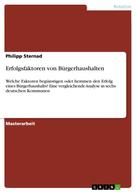 Philipp Sternad: Erfolgsfaktoren von Bürgerhaushalten