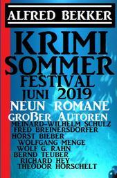Sommer Krimi Festival Juni 2019 - Neun Romane großer Autoren