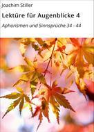 Joachim Stiller: Lektüre für Augenblicke 4