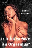 Anita Rojan: ein Sex-Ratgeber: Is it OK to fake an Orgasmus?