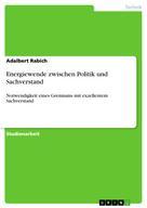 Adalbert Rabich: Energiewende zwischen Politik und Sachverstand