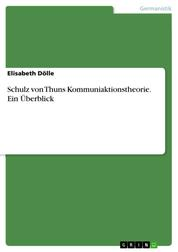 Schulz von Thuns Kommuniaktionstheorie. Ein Überblick