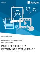 Maximilian Reinhold: ProSieben ohne den Entertainer Stefan Raab? Profil- und Markenbildung des TV-Senders