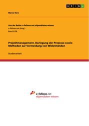Projektmanagement. Darlegung der Prozesse sowie Methoden zur Vermeidung von Widerständen