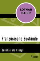 Lothar Baier: Französische Zustände