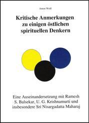 Kritische Anmerkungen zu spirituellen Denkern - Eine Auseinandersetzung insbesondere mit Nisargadatta