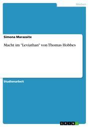 """Macht im """"Leviathan"""" von Thomas Hobbes"""