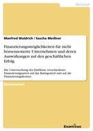 Manfred Waldrich: Finanzierungsmöglichkeiten für nicht börsennotierte Unternehmen und deren Auswirkungen auf den geschäftlichen Erfolg