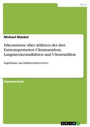 Erkenntnisse über Athleten der drei Extremsportarten Ultramarathon, Langstreckenradfahren und Ultratriathlon - Ergebnisse aus Athleten-Interviews