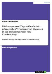 Erfahrungen von Pflegekräften bei der pflegerischen Versorgung von Migranten in der ambulanten Alten- und Krankenpflege - In einer auf Migranten spezialisierten Einrichtung