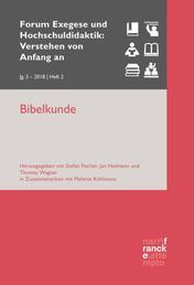 Bibelkunde - VvAa Heft 2 / 3, Jahrgang 2018