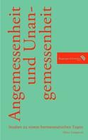 Mirco Limpinsel: Angemessenheit und Unangemessenheit