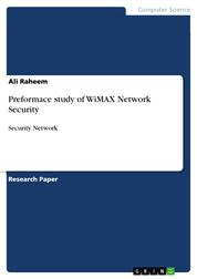 Preformace study of WiMAX Network Security - Security Network