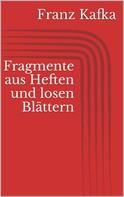 Franz Kafka: Fragmente aus Heften und losen Blättern