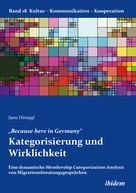 """Sara Dirnagl: """"Because here in Germany"""". Kategorisierung und Wirklichkeit"""
