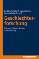 Barbara Rendtorff: Geschlechterforschung