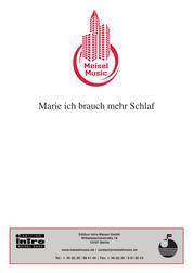 Marie, ich brauch mehr Schlaf - as performed by Hermann Hoffmann, Single Songbook