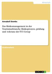 Das Risikomanagement in der Tourismusbranche. Risikoprozess, -prüfung und -toleranz der TUI Group