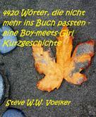 Steve W.W. Voelker: 4420 Wörter, die nicht mehr ins Buch passten - eine Boy-meets-Girl Kurzgeschichte
