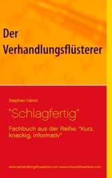 """""""Schlagfertig"""" - Fachbuch aus der Reihe: """"Kurz, knackig, informativ"""""""