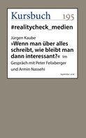 """Jürgen Kaube: """"Wenn man über alles schreibt, wie bleibt man dann interessant?"""""""