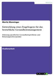 Entwicklung eines Fragebogens für das betriebliche Gesundheitsmanagement - Erfassung spezifischer Gesundheitsprobleme und Belastungsschwerpunkte