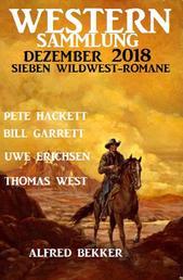 Western Sammlung Dezember 2018 - Sieben Wildwest-Romane
