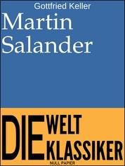 Martin Salander - Roman