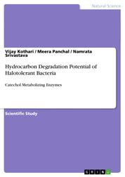 Hydrocarbon Degradation Potential of Halotolerant Bacteria - Catechol Metabolizing Enzymes