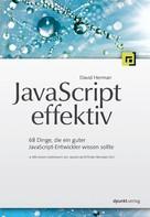 David Herman: JavaScript effektiv ★★★★★