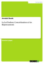 La Loi Toubon. Concrétisation et les Répercussions